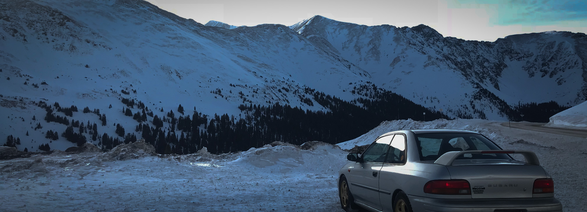 Subaru in the mountains